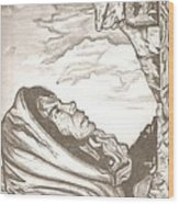 Mother Mary Drawing Wood Print