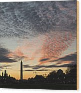 Mother Nature Painted The Sky Over Washington D C Spectacular Wood Print