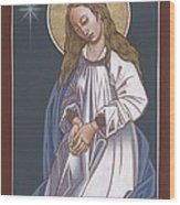 Mother Of God Waiting In Adoration 248 Wood Print
