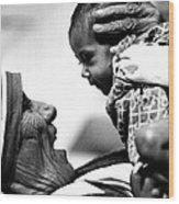 Mother Teresa Holds Baby Wood Print