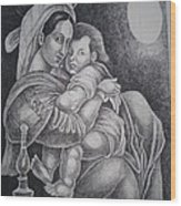 Mother With Her Baby Wood Print by Prasenjit Dhar