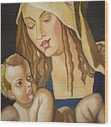 Mother With Her Child Wood Print