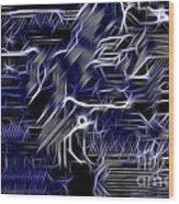 Motherboard - Printed Circuit Wood Print by Michal Boubin