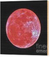 Motherly Moon Wood Print