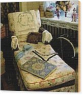 Mother's Chintz Chaise In The Corner Wood Print by RC deWinter