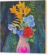 Mothers Day Bouquet Wood Print