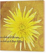 Mother's Day Flower Wood Print