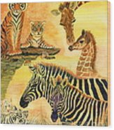 Mother's Day In The Wild Kingdom Wood Print