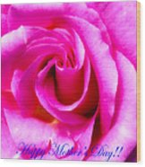 Mother's Day Rose Wood Print