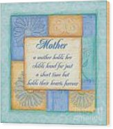 Mother's Day Spa Wood Print by Debbie DeWitt