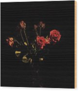 Mothers Dying Roses Wood Print