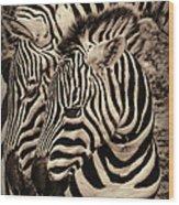 Mothers Embrace Wood Print