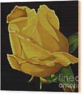 Mother's Yellow Rose Wood Print by Cory Still