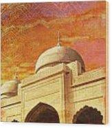 Moti Masjid Wood Print