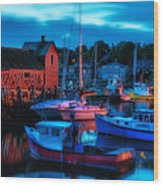 Motif No 1 Rockport Massachusetts Wood Print by Thomas Schoeller