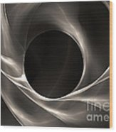 Motion Of Filaments On Black Wood Print