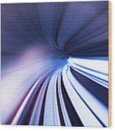 Motion Tunnel Wood Print