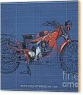 Moto Guzzi Gt Norge 500 1928 Wood Print