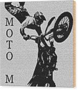 Moto Man Wood Print