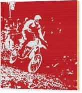 Motocross Wood Print