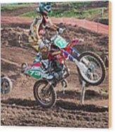 Motocross Rider Wood Print