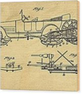 Motor Driven Sleigh Support Patent Drawing From 1915 1 Wood Print