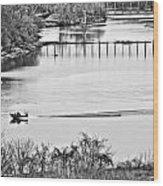 Motorboat Ride Wood Print