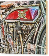 Motorcycle - 1914 Excelsior Auto Cycle Wood Print