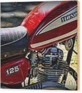 Motorcycle - 1974 Honda Cl 125 Scrambler Wood Print