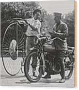 Motorcycle And Velocipede - 1921 Wood Print