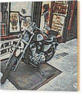 Motorcycle At Philadelphia Eddies Wood Print