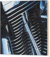 Motorcycle Engine Wood Print