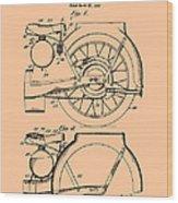 Motorcycle Patent 1925 Wood Print