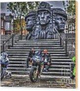 Motorcycle Rally 4 Wood Print