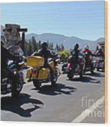 Motorcycle Row Wood Print