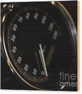 Motorcycle Speedometer Wood Print
