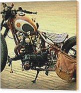 Motorcycle Statement Wood Print