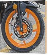 Motorcycle Wheel Wood Print