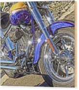 Motorcycle Without Blue Frame Wood Print