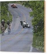 Motorcycles And Bicycles Wood Print
