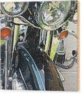 Motorcyle Classic Headlight Wood Print
