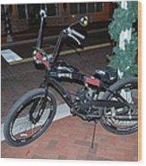 Motorized Bicycle Wood Print