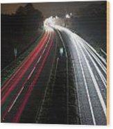 Motorway Wood Print