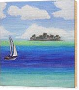 Motu Sailing Wood Print