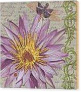 Moulin Floral 1 Wood Print by Debbie DeWitt