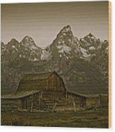 Moulton Barn And Tetons Wood Print