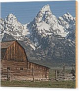 Moulton Barn - Grand Tetons I Wood Print