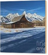 Moulton Barn Landscape Wood Print