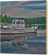 Moultonborough Fire Boat Wood Print