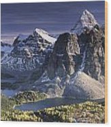 Mount Assiniboine In The Fall Wood Print